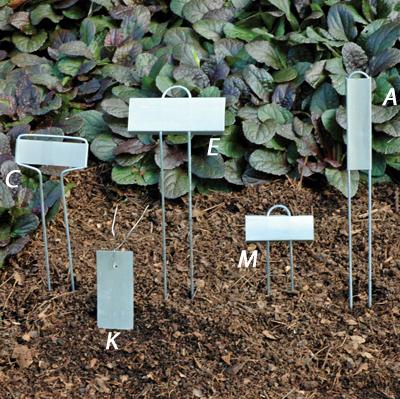 Tie On Zinc Plant Labels (K)
