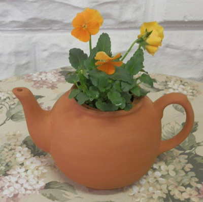 Large English Teapot Planter