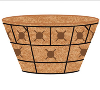 "16"" Double Tier Basket Planter & Liner Set"