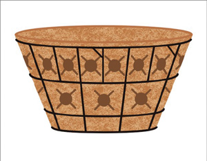 20 Inch Double Tier Basket Planter & Liner Set