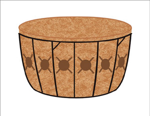 "16"" Single Tier Basket & Liner Set"