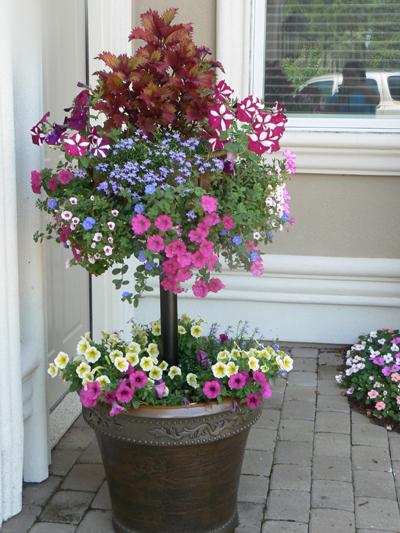 Pamela Crawford Basket Column For Large Pots (Top Basket Not Included)