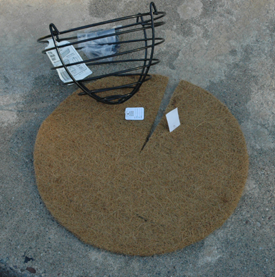 Coco Fiber Liner (Flat Style) for 24 Inch Basket