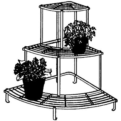 Quarter Round Tiered Plant Stand Kinsman Garden