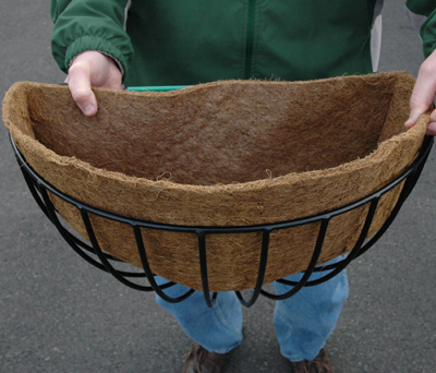"Coco Fiber Liner for 16"" Wall/Rounded Hayrack Planters (Fits KC2&KC9A)"