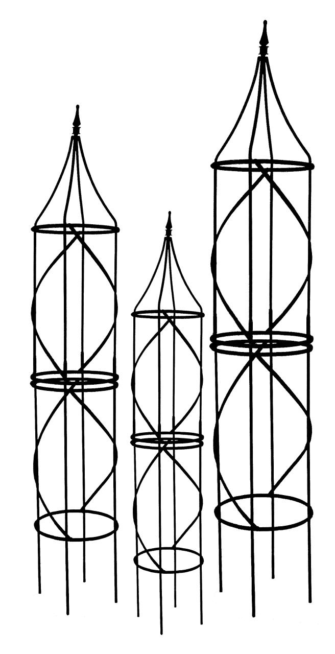 Obelisks Amp Tuteurs Large Border Tuteur