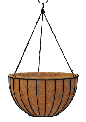 24 Inch London Basket and Liner w/Hanging Rods