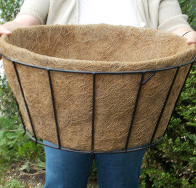 "Coco Fiber Liner with No Holes for 20"" Single Tier Basic Basket"