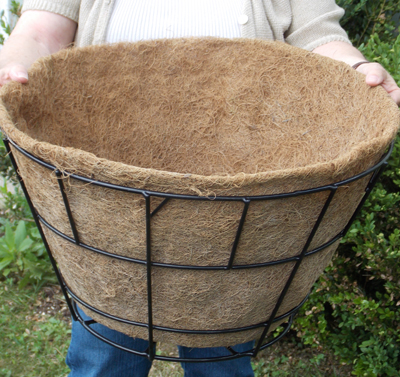 "Coco Fiber Liner with No Holes for 20"" Double Tier Basic Basket"