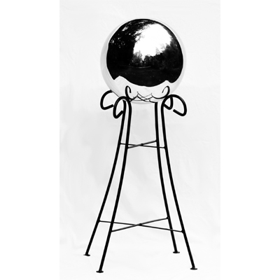"10"" Stainless Steel Gazing Globe & Pedestal Combo"