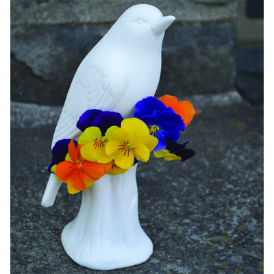 White Porcelain Bird Vase