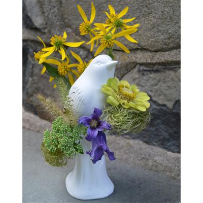 Vases And Flower Arrangers White Porcelain Bird Vase