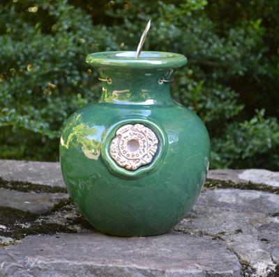 Green Gloss Down Under Pot