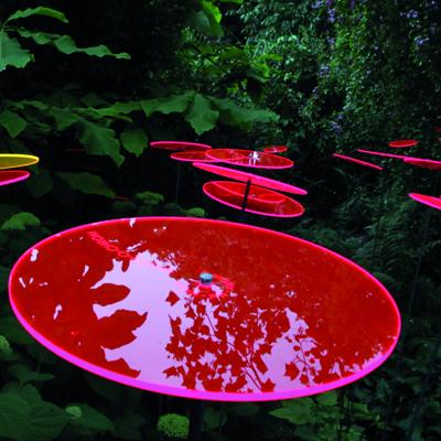 Medium Red Suncatcher Disk