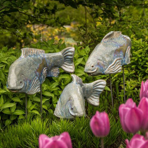 Crystal Glazed Ceramic Fish