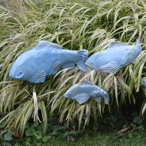 Sky Glazed Ceramic Fish