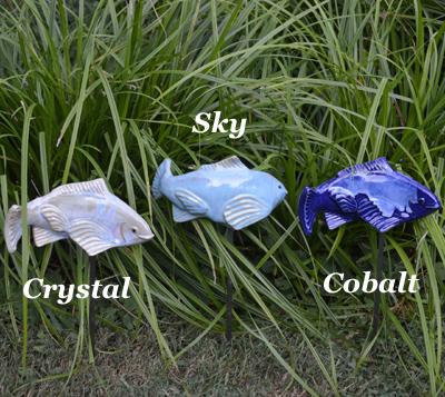 Blue (Cobalt) Glazed Ceramic Fish