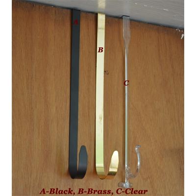 """13 1/2"""" Black Steel Wreath Hanger"""