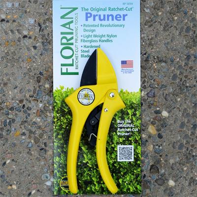 Yellow Florian Ratchet Pruner