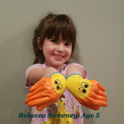 Ducky!  Gloves for Toddlers & Kids