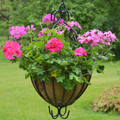 16 Inch Spanish Hanging Planter & Liner Set
