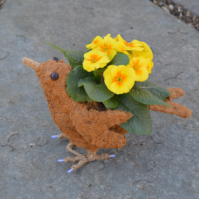 Berrie the Coco-Fiber Bird Topiary Planter