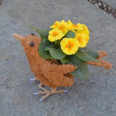 Berrie the Coco-Fiber Bird Topiary Planter