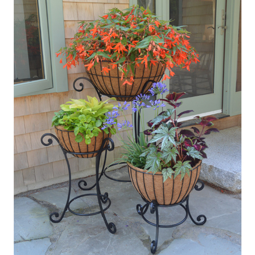 Trio of Basket Display Stands Without Baskets