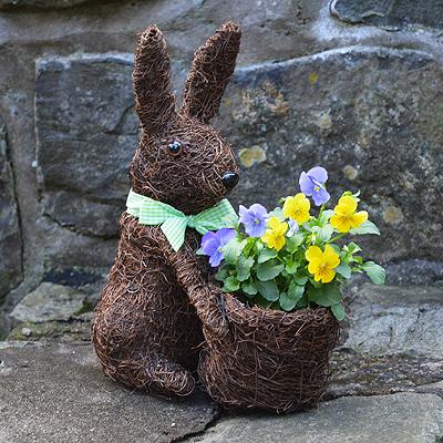 Buster the Coco-Fiber Bunny Topiary Planter