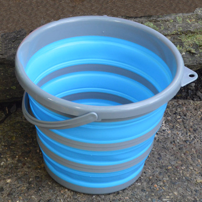 Collapsible Bucket-Medium Blue