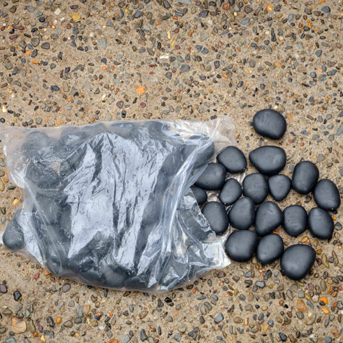 Faux River Pebbles-Black