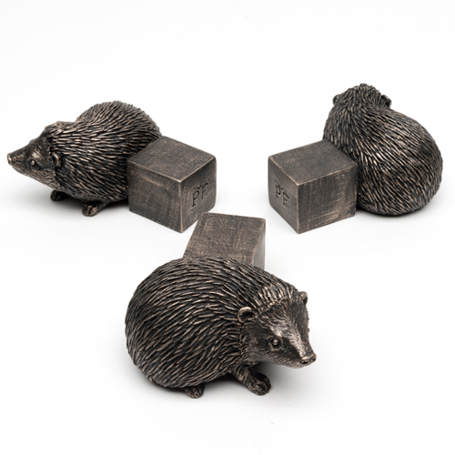 Antique Bronze Hedgehog Pot Feet (Set of 3)