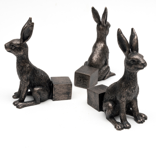Antique Bronze Small Hare Pot Feet (Set of 3)