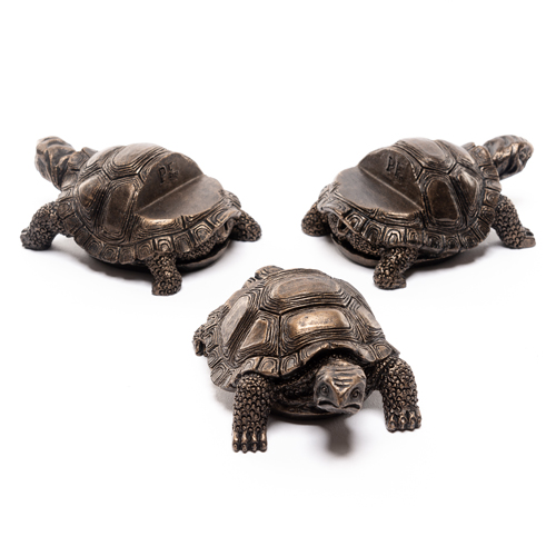 Antique Bronze Tortoise Pot Feet (Set of 3)