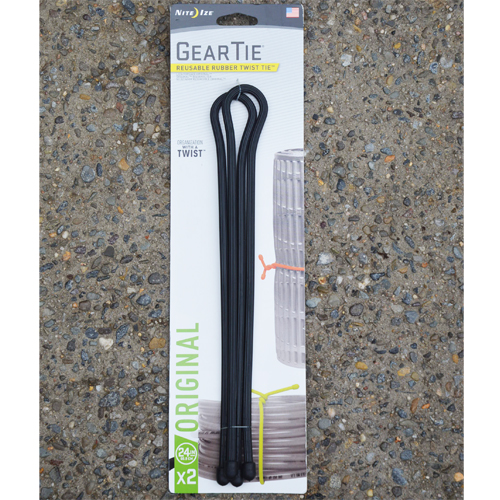 "Gear Ties ® 24"" 2 pack (Black)"