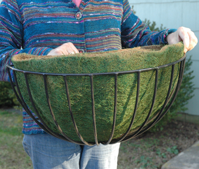 "GREEN COCO FIBER LINER FOR 25"" ROUNDED HAYRACK (FOR KC12A/KCLPH25 PLANTERS)"