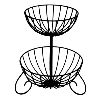Two Tiered Cascade Planter (Basket Only/No Liner)