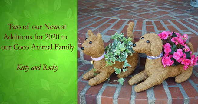 New Animal Topiary Coco Planters