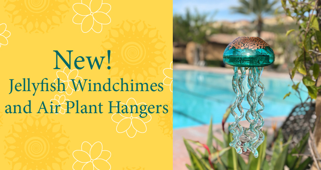 New Jellyfish Windchimes and Air Plant Hangers