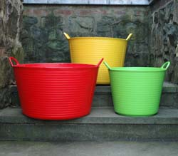COLORED TRUG TUBS