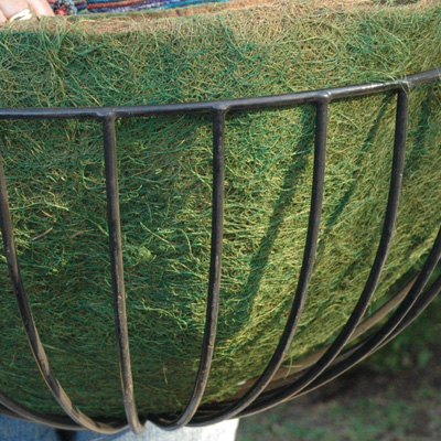 30 ROUNDED HAYRACK GREEN LINER