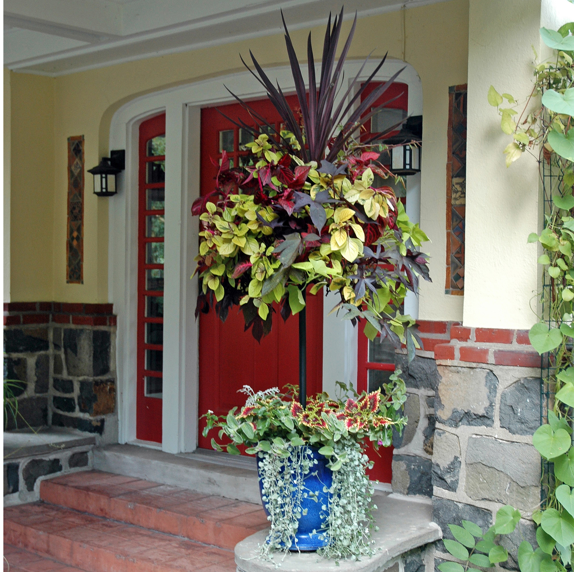 CS/5 Pamela Crawford's Basket Column for Small Pots (14 Inch PC Basket Included)