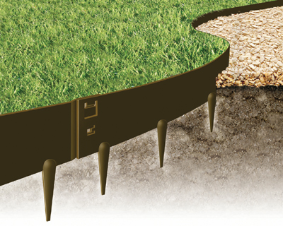 EVEREDGE - Flexible Steel Garden Edging - 5 - 5 SECTIONS