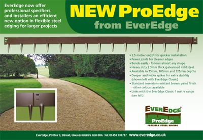 PROEDGE 3 - Flexible Steel Garden Edging - 3 x 8' - 5 SECTIONS
