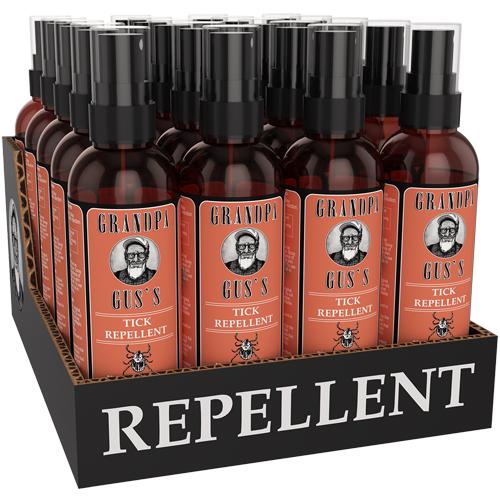 CS/20 - Grandpa Gus's Tick Repellent - 4 fl. oz ea. in display box