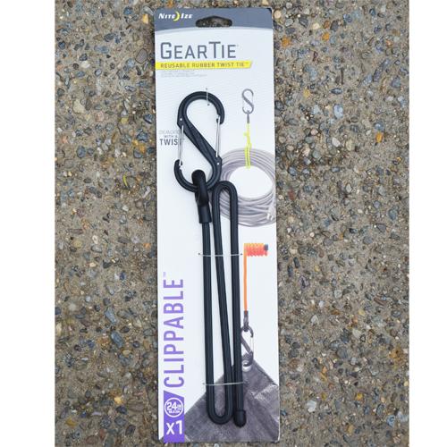 CS/10 - Gear Ties® 1 x 24 L w/ S Biner (Black)