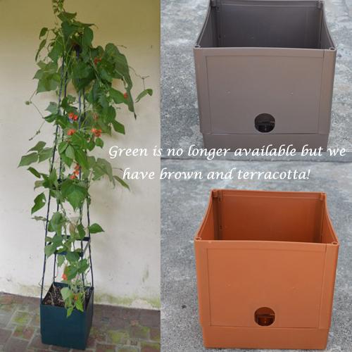 CS/3 - Ultimate Self-Watering Plant Tower - Brown