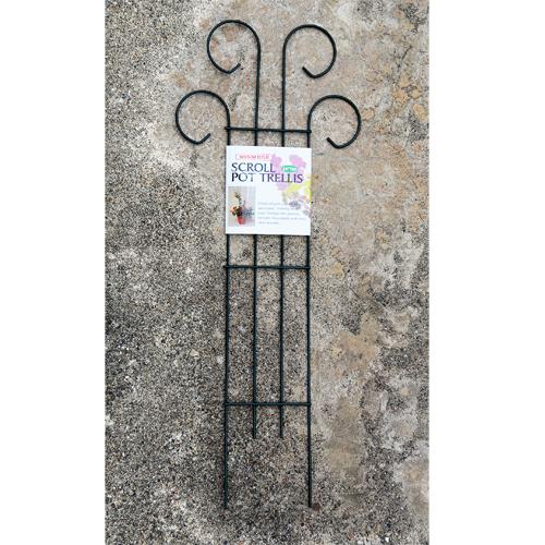 Cs/12 - Scroll Pot Trellis - 24 Tall