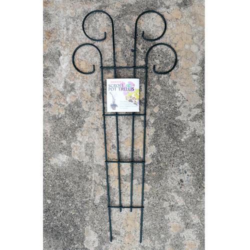 Cs/6 - Scroll Pot Trellis - 36 Tall