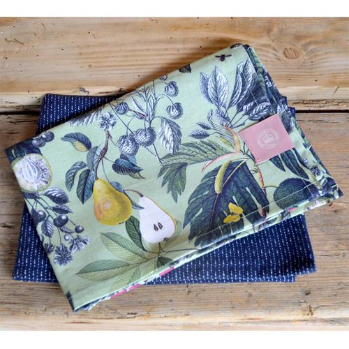 Cs/2 - Kew Fruit and Floral Tea Towel